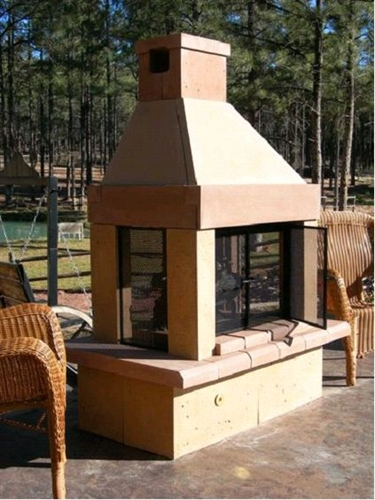 Willow Ridge Outdoor Fireplace